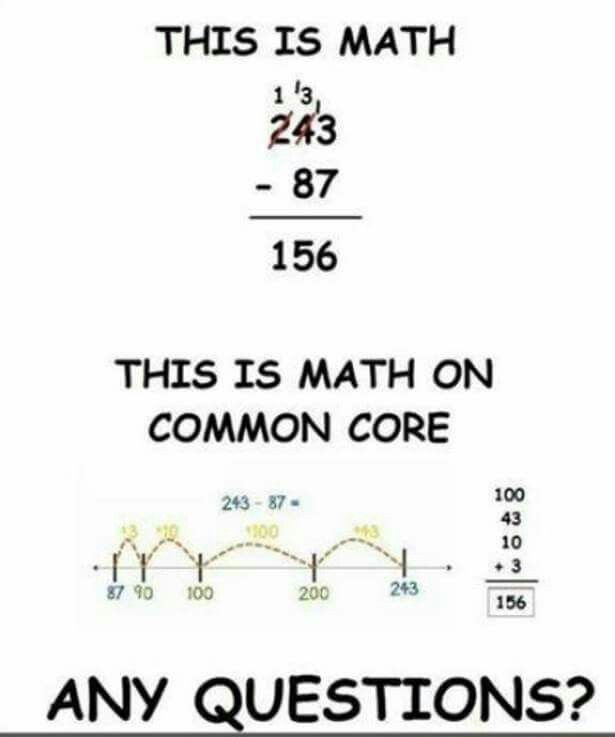 Make math too hard for everyone so that we can all be stupid ...