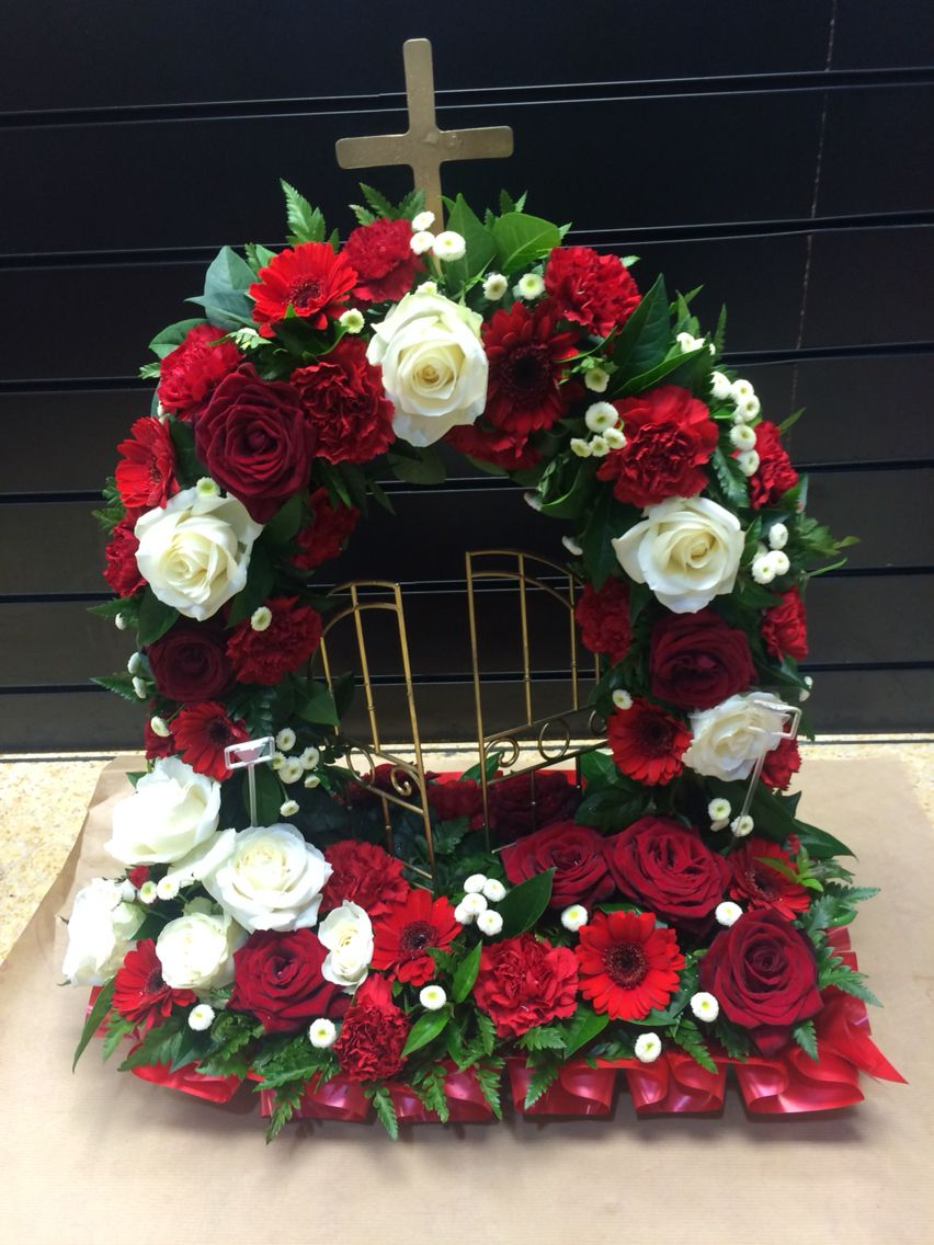 Red gates of heaven funeral flowers pinterest gate sympathy funeral flowers red gates of heaven izmirmasajfo Choice Image