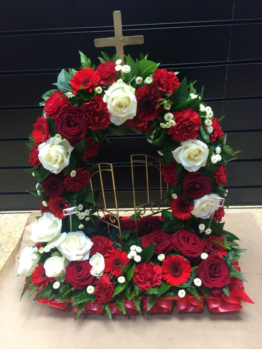 Red gates of heaven Flower arrangements, Sympathy