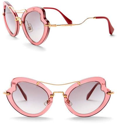 517fb23d59ed7 Miu Miu Women s Butterfly 52mm Acetate Frame Sunglasses