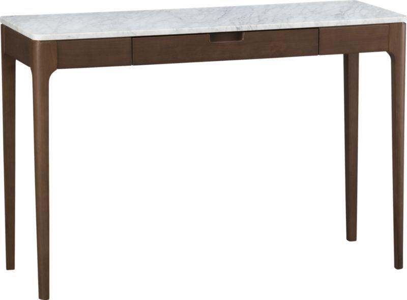 We Could Tuck Two Small Ottomans Underneath U003eu003e Nash Console Table | Crate U0026  Barrel