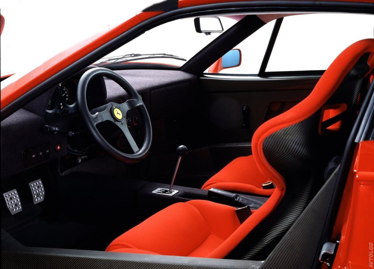 1987 Ferrari F40 Simple Interior Car Interiors Pinterest