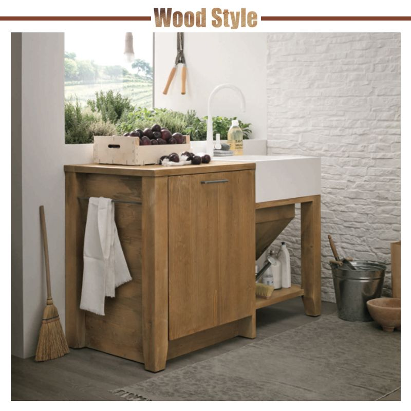Wood style cucina stosa made in italy legno for Made arredamento