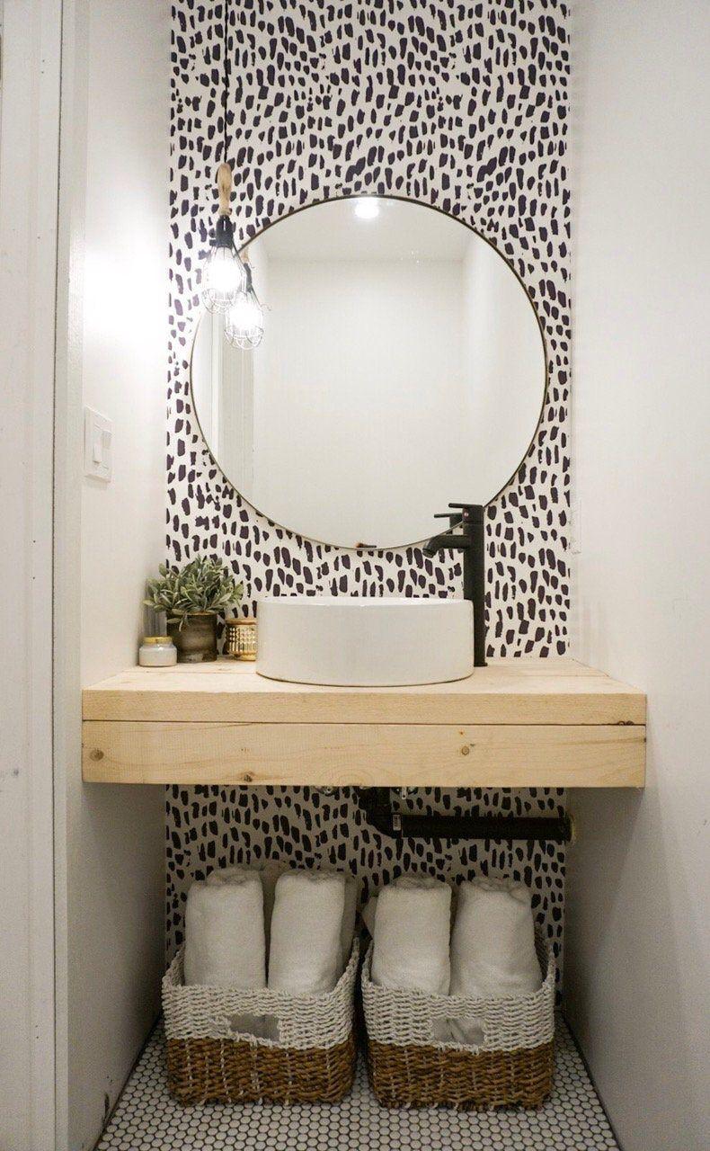 Wallpops Gray Brick Peel And Stick Wallpaper Toilet Room Decor Small Toilet Room Small Bathroom Remodel