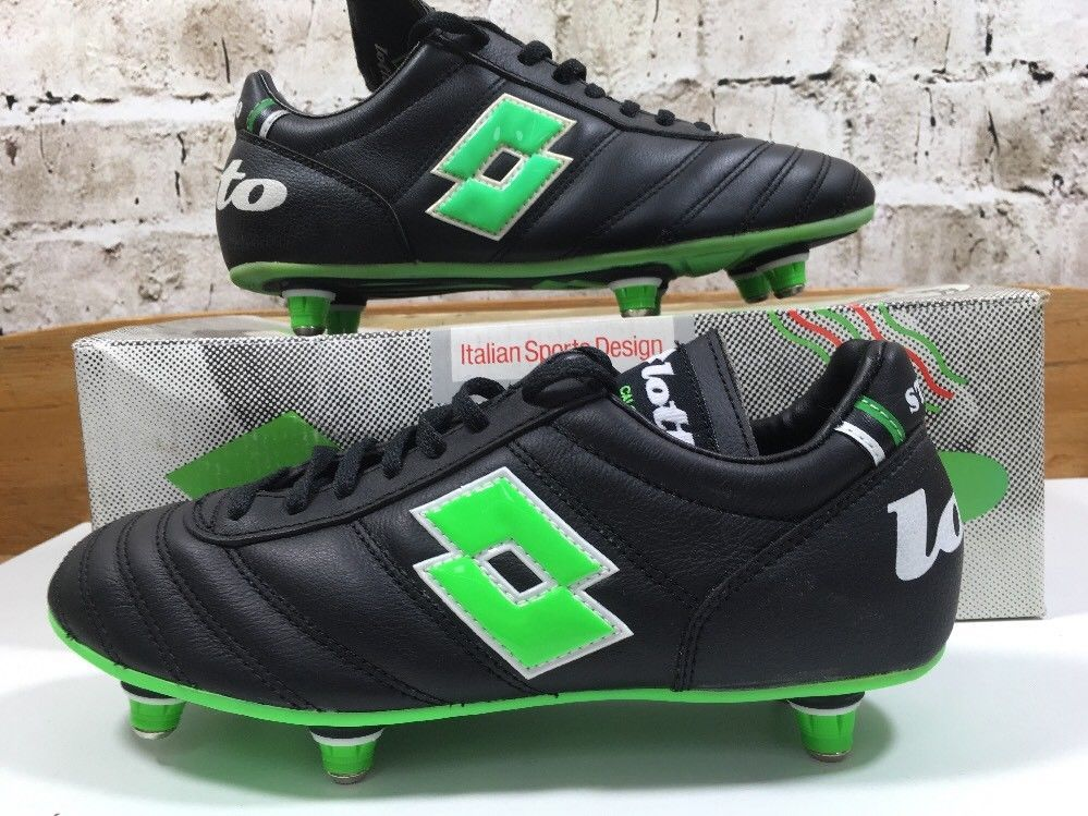 16a7787d0d9 Vintage 1980s Lotto In Stadio football Soccer boots Uk 5 US 6 Eu 38 ...