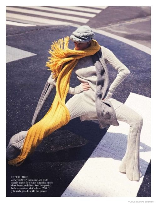 knitwear shoot for Vogue Spain