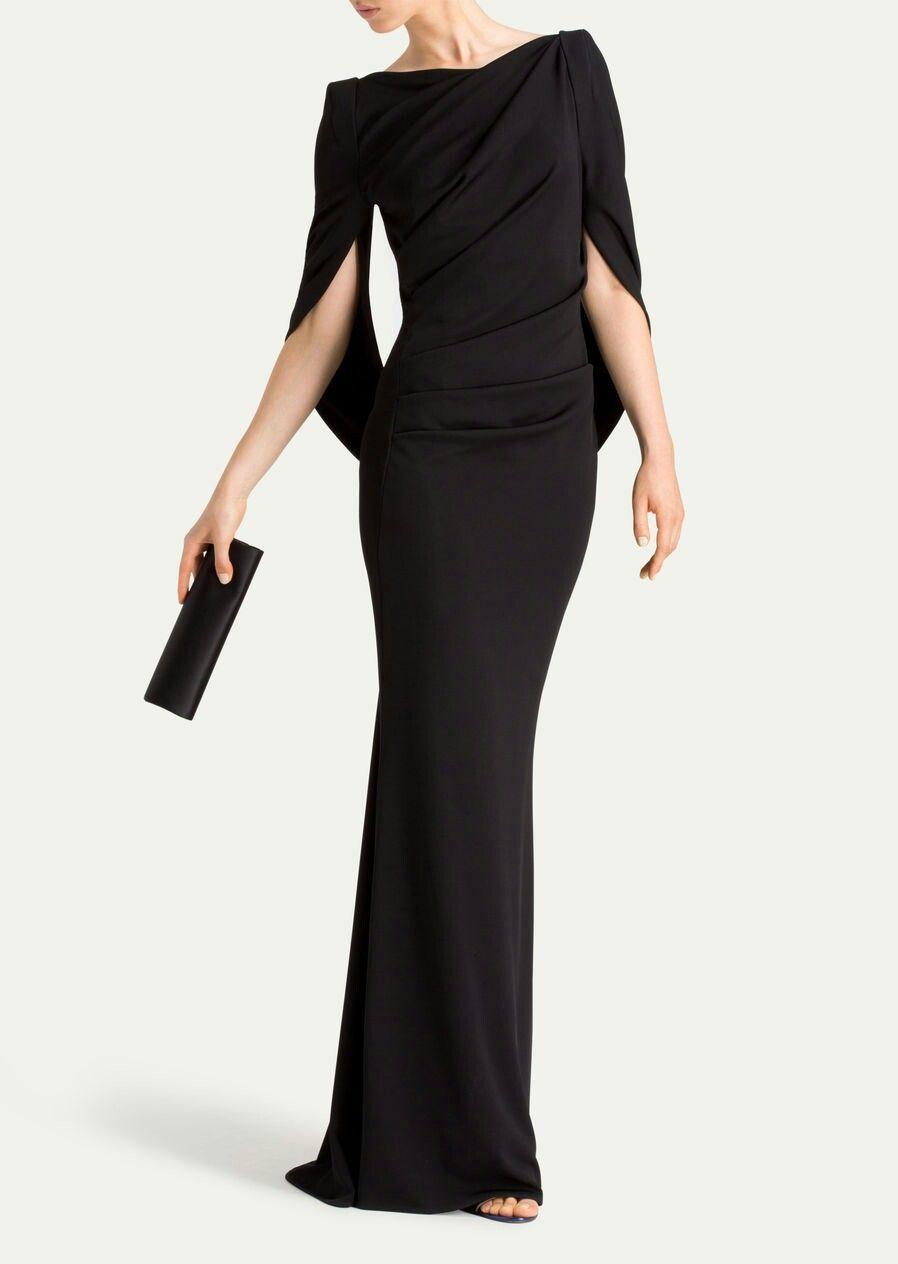 Talbot Runhof Konica2 Langes Kleid Aus Heavy Viscose Jersey Farbe Black 1 398 00 Source By Astrid8933 Classy Dress Fashion Dresses Fashion [ 1264 x 898 Pixel ]