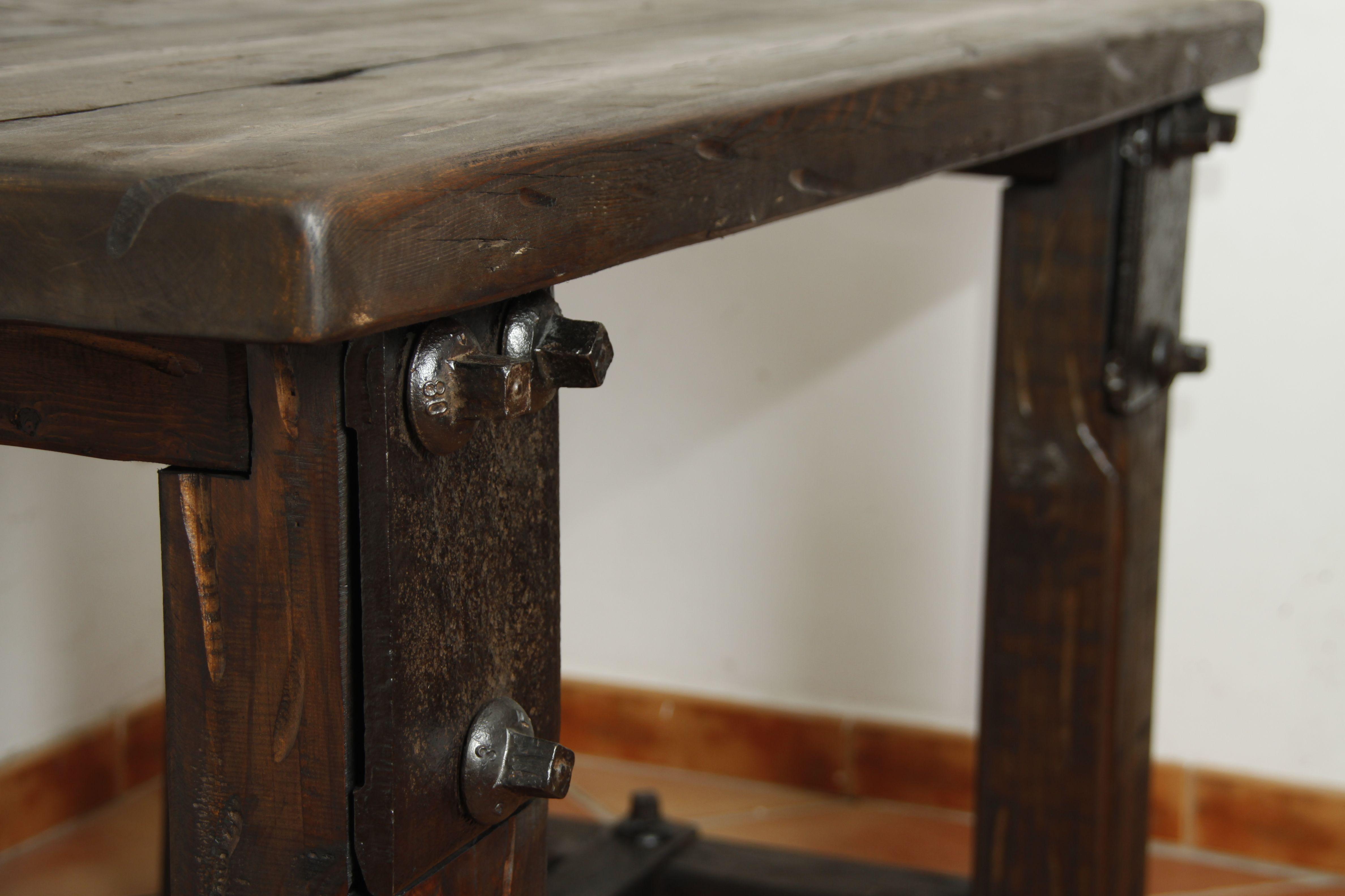 mesa rustica, medidas 140x80x77cm