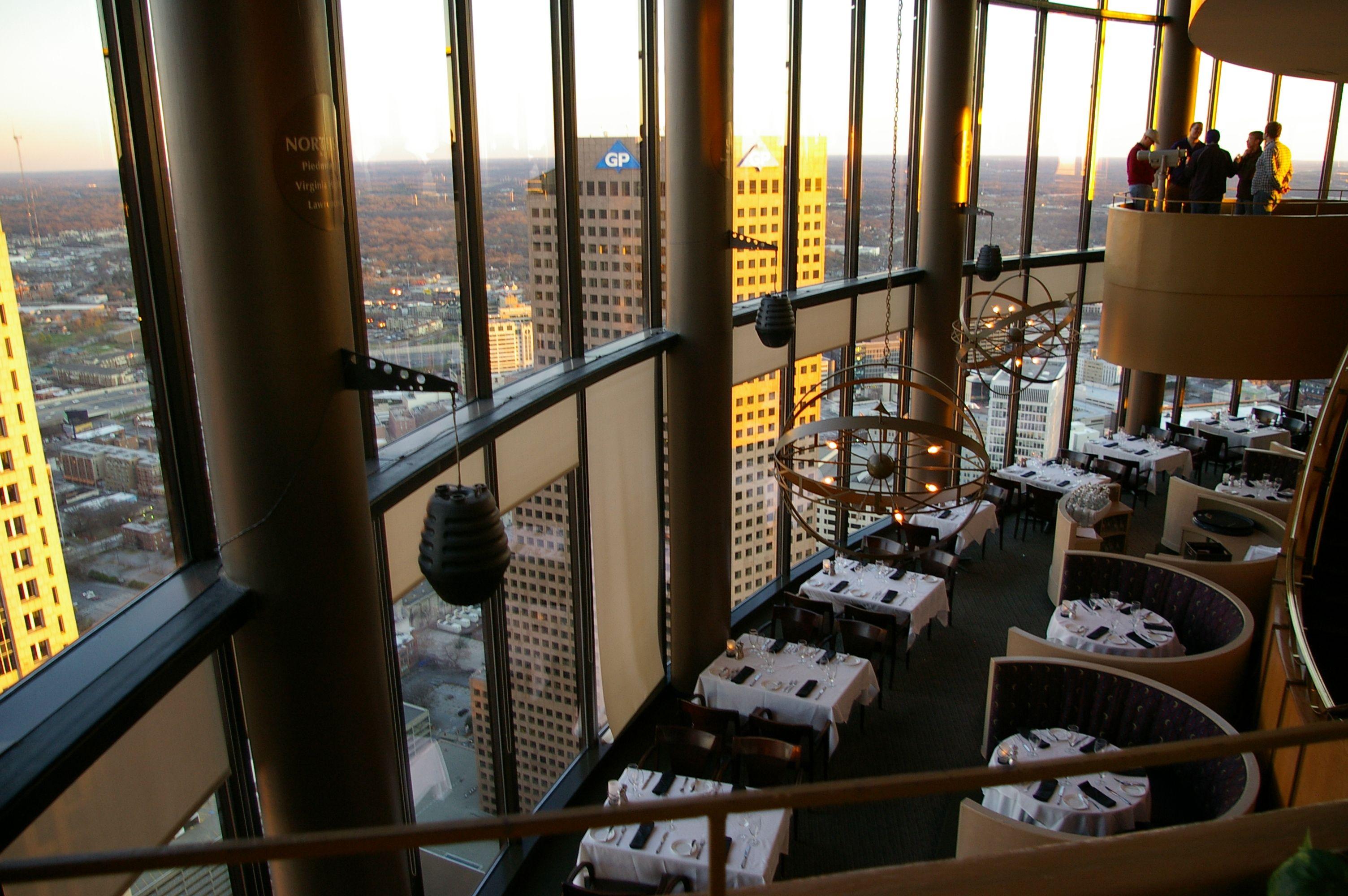 Sundial Restaurant Dining Area Atlanta Ga Favorite Places