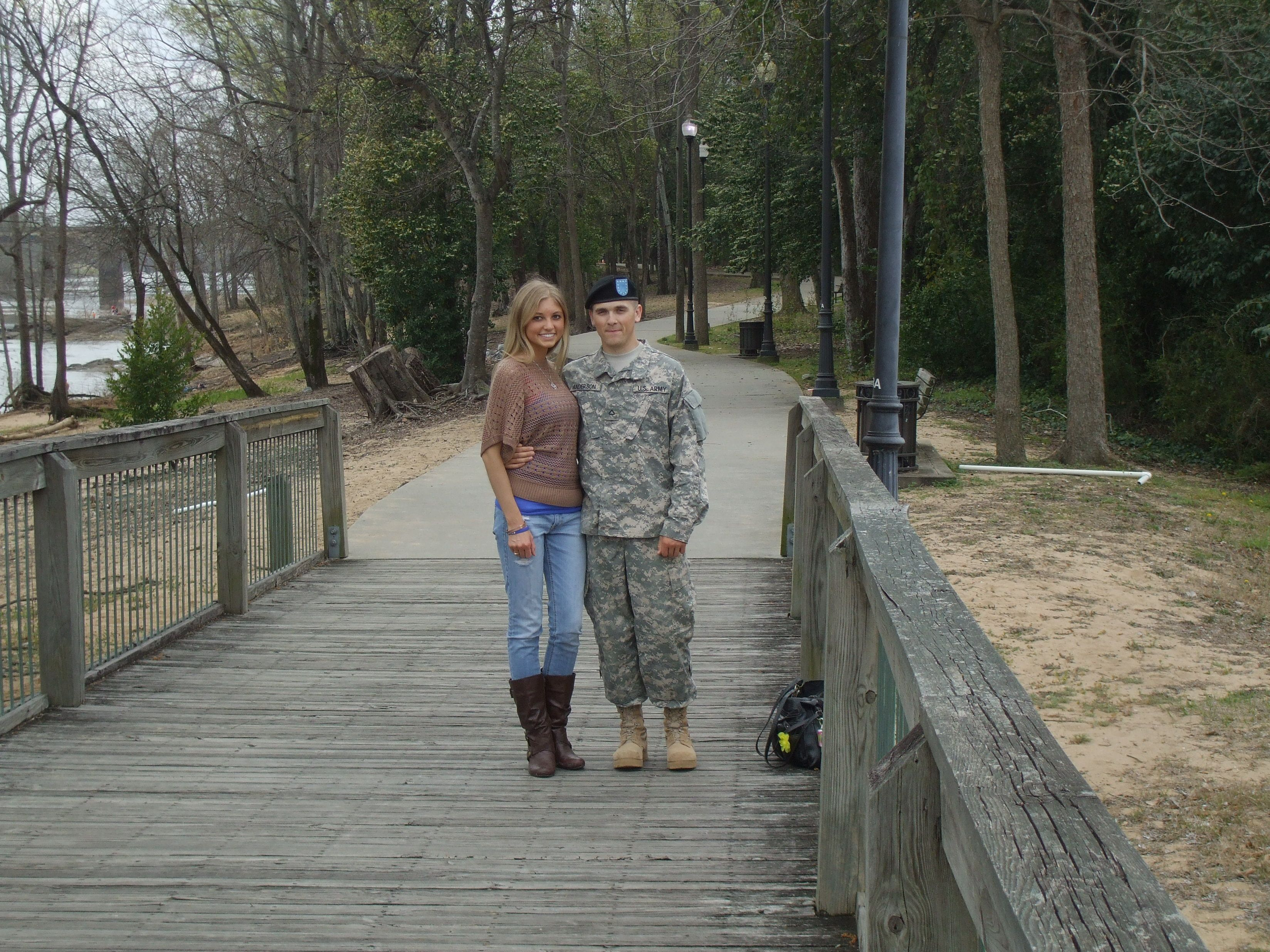 River walk before he went back to Fort Benning