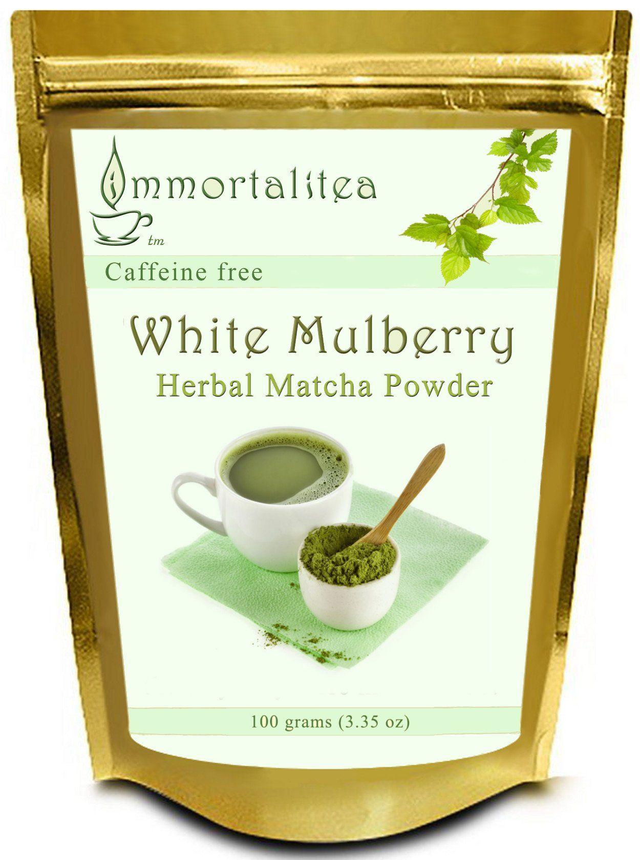 Robot Check Matcha tea powder, Mulberry tea, Caffeine free