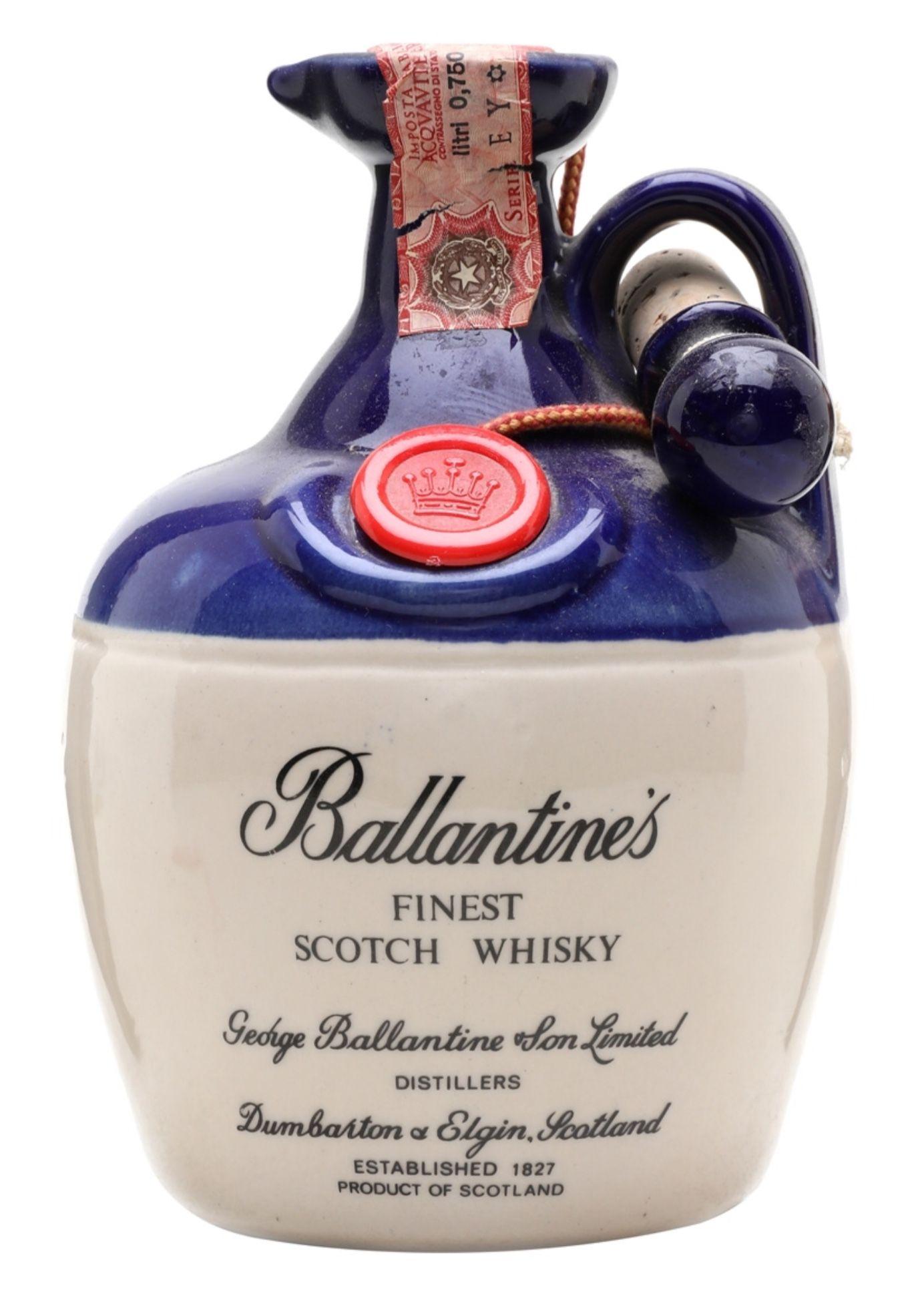 Ballantine S Finest Bot 1970s Ceramic Decanter Scotland Cigars