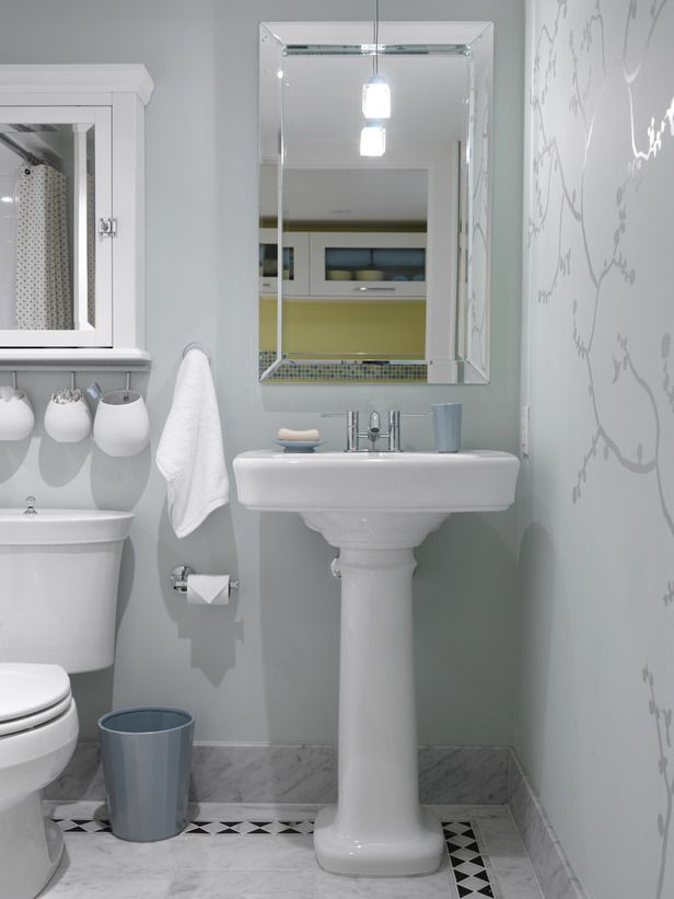beauty on a budget sarahs house a mid century home gets a stylish - Basement Bathroom Design