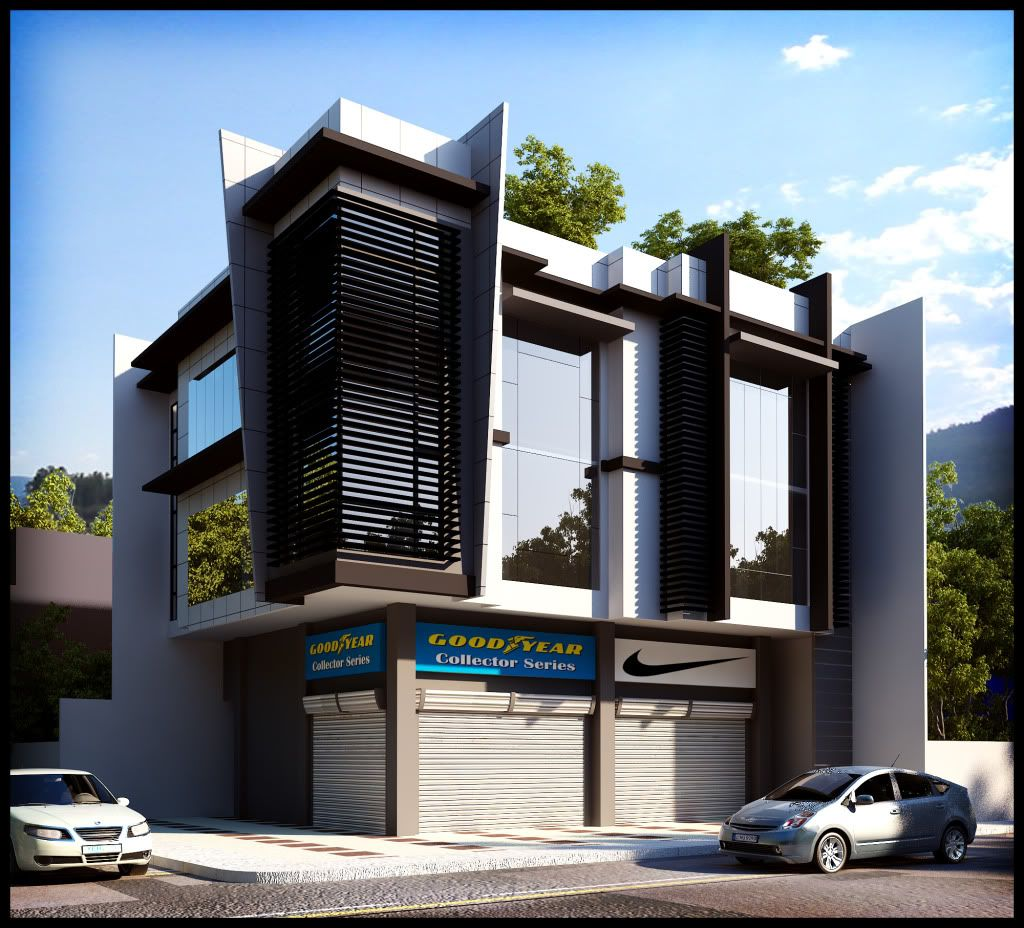 Photobucket modern buildings pinterest building for 3 storey commercial building design