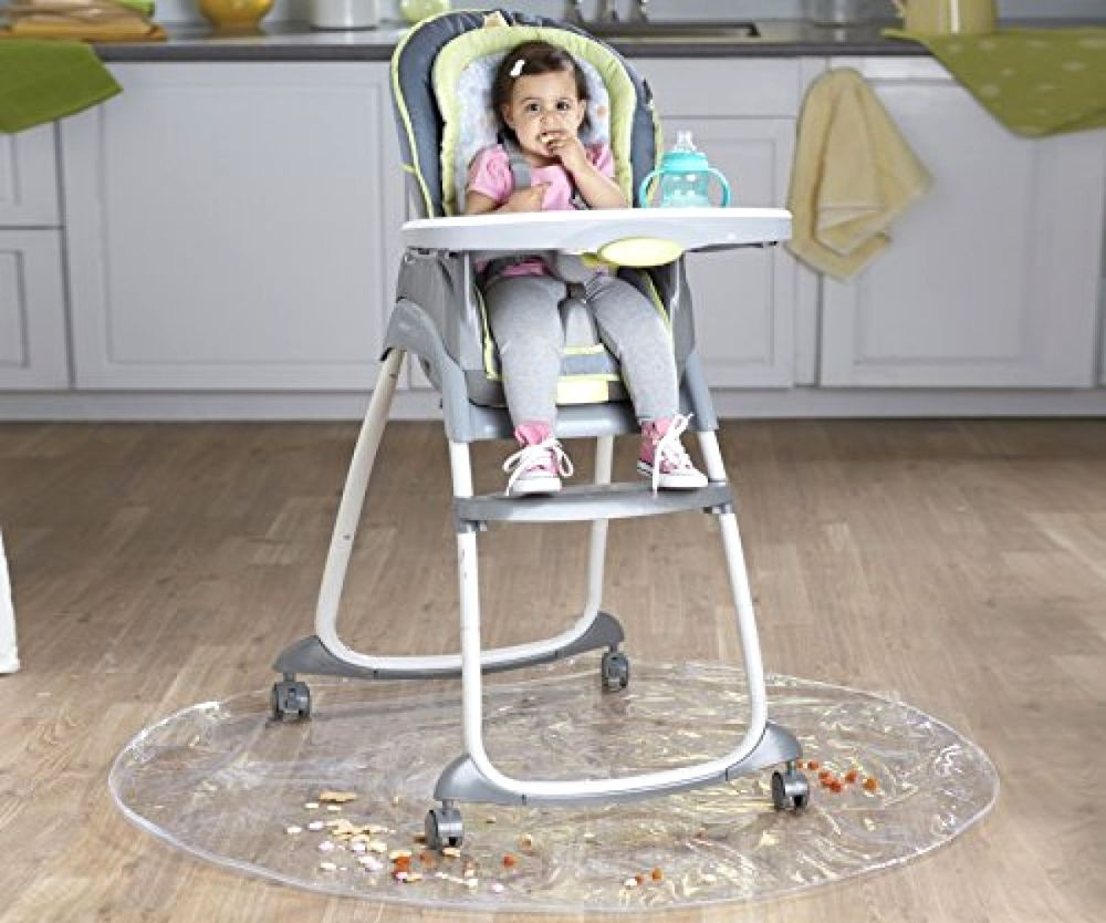 Nuby Floor Mat Baby Drop Cloth High Chair Mat Plastic 50 Diameter High Quality Baby High Chair High Chair Mat High Chair Floor Mat