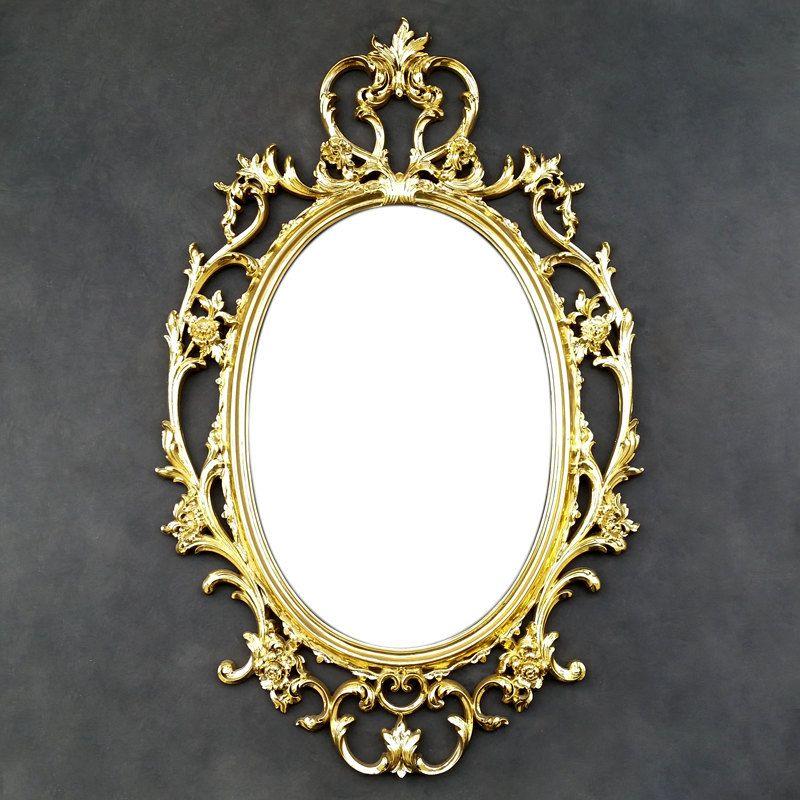 Gold Ornate Vintage Mirror Fl