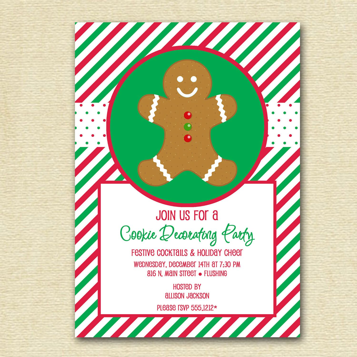 Cookie Decorating Party Invitation, Cookie Party Invite