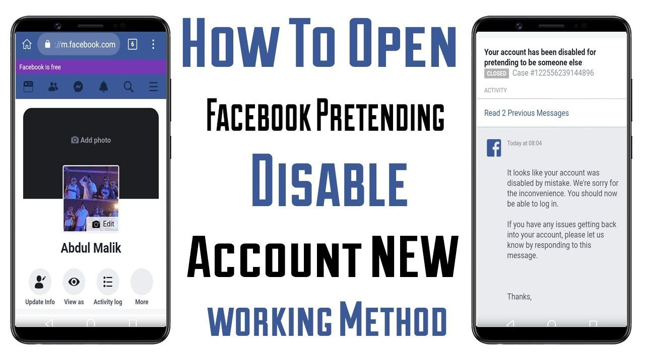 How to open facebook pretending disabled account 2019
