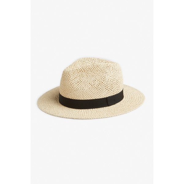 Monki NEW! Feodora hat (2455 RSD) ❤ liked on Polyvore featuring accessories, hats, sahara beige, fedora hat, monki, beige fedora hat, straw fedora and straw fedora hats