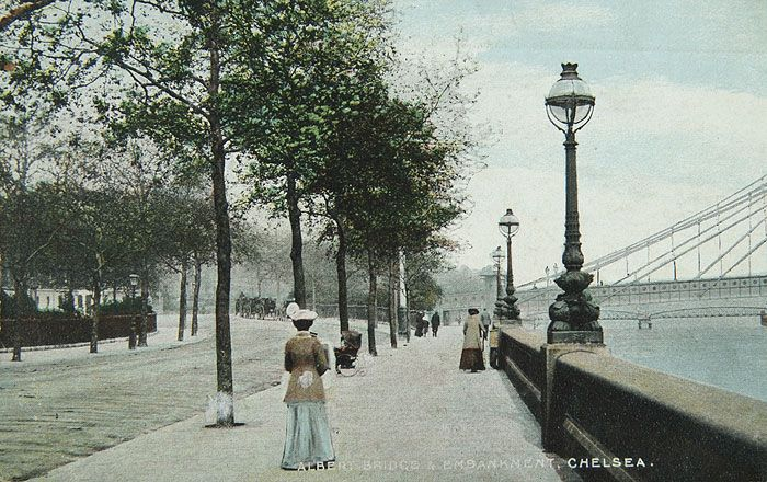 Chelsea Embankment In 1905 20th Century Dog Tags Pet London London History