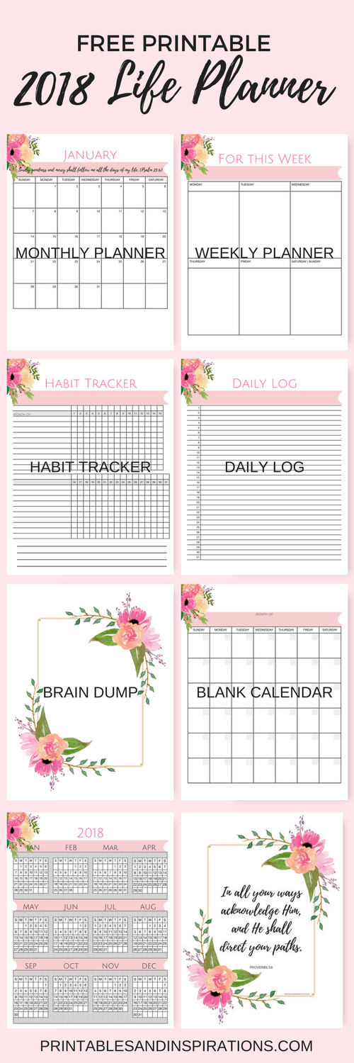 Weekly Life Calendar : Free printable life planner not just a pink calendar