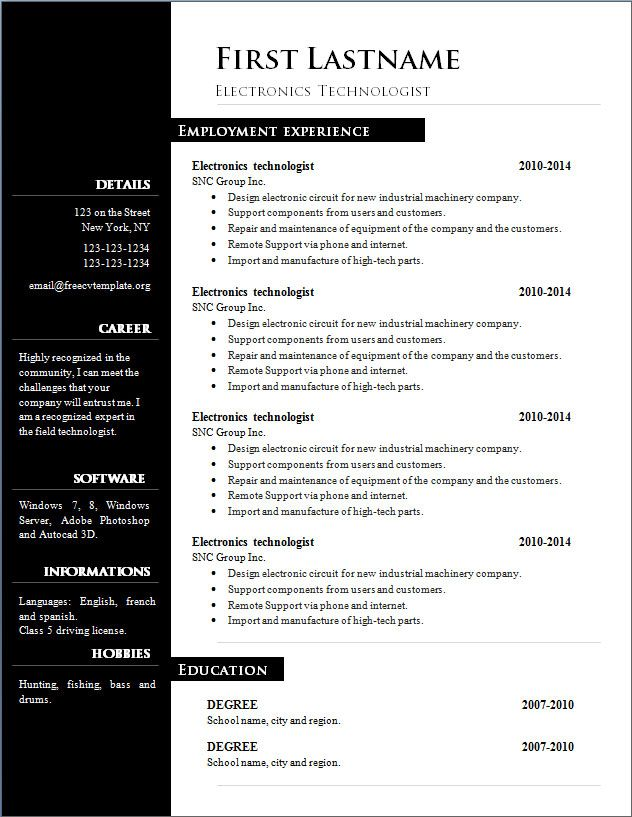 It Repair Sample Resume Free Word Resume Beautiful Word Format Resume Free Download  Free .