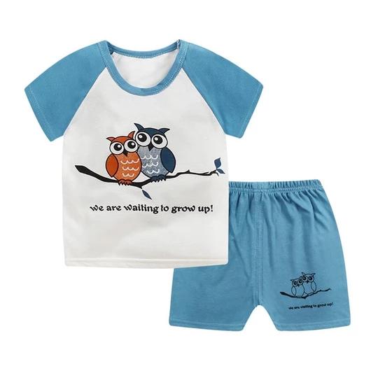 Boy Girl Outfits Baby Toddler Kids Cloth Newborn Cloth T-shirt Shorts Pants