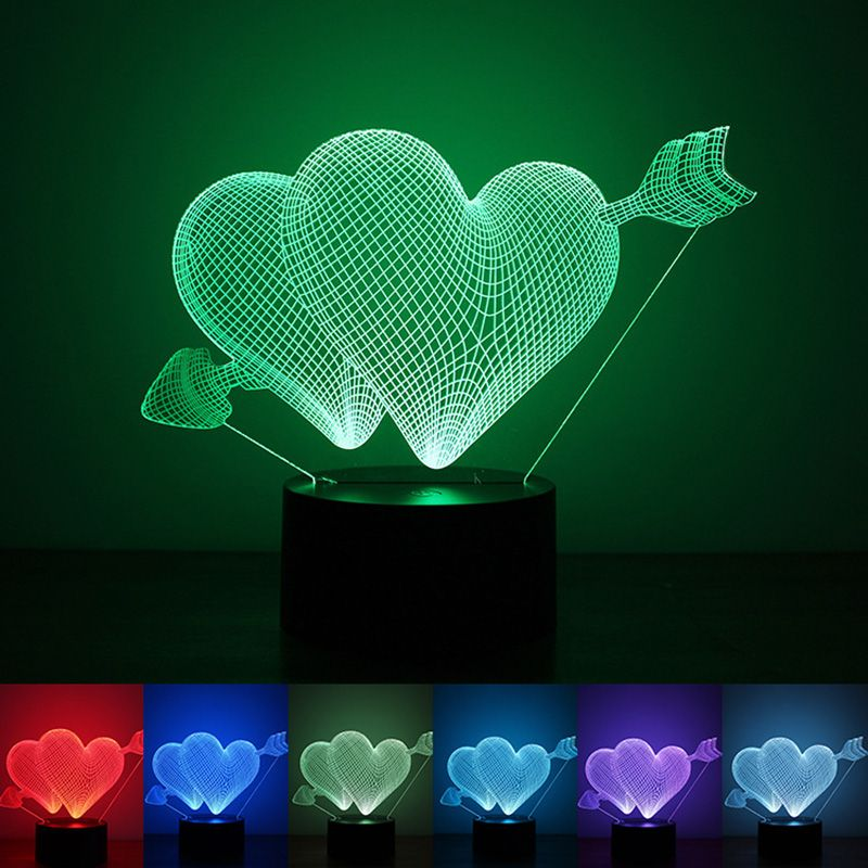Valentines Day Gift 3d Lamp Led Night Light 7 Colors Table Lampe Deco Bulb Touch Sensor Luminarias Fixtures L 3d Led Night Light 3d Night Light Led Night Light