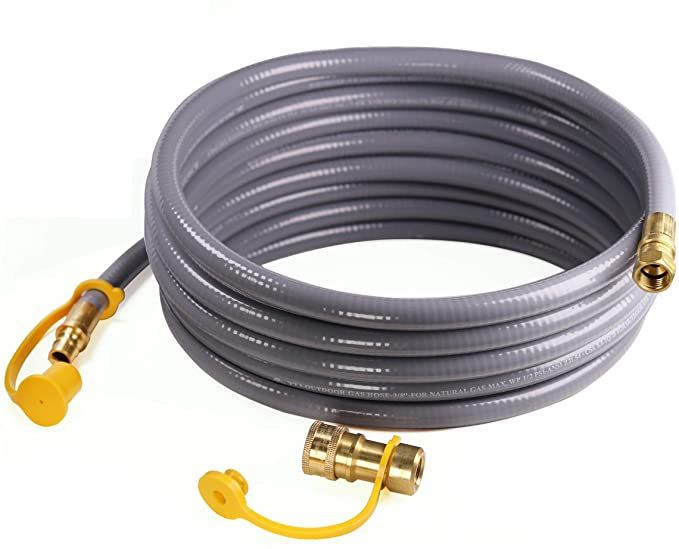 Dozyant 12 Feet 3 8 Inch Id Natural Gas Grill Hose With Quick Connect Propane Gas Hose Assembly For Low Pressure Ap In 2020 Natural Gas Grill Repair How To Remove Rust