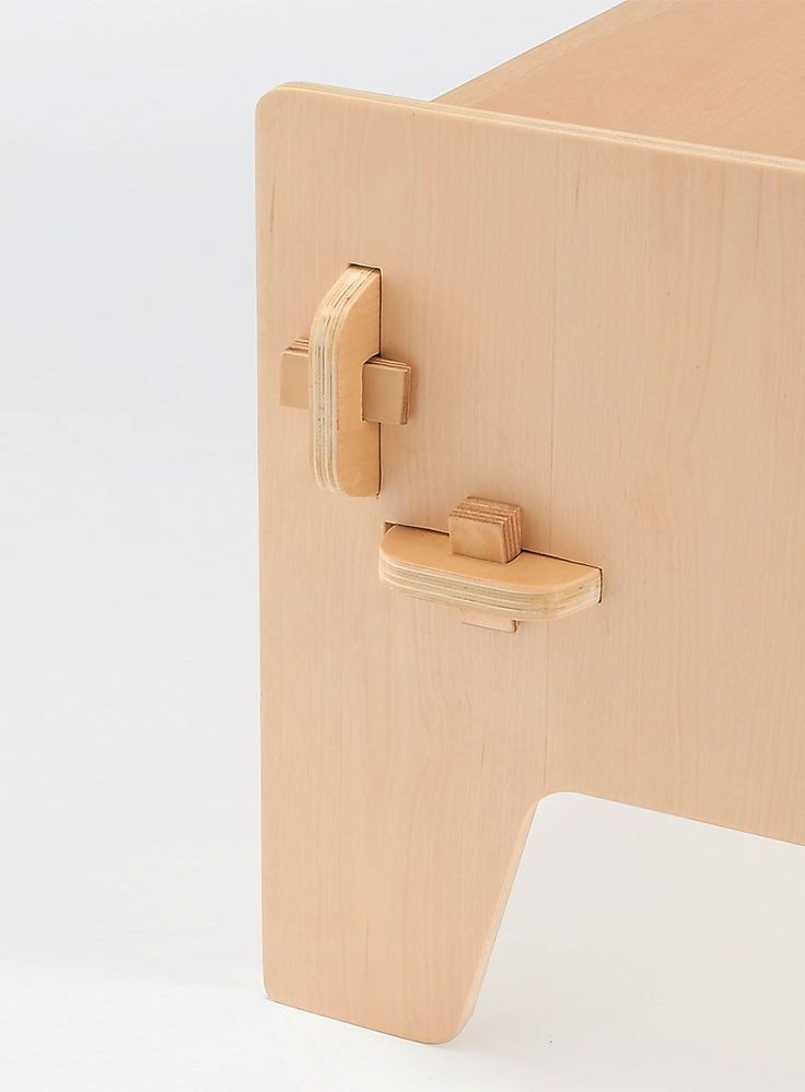 Photo of Wedge (detail) by Sebastian Bergne. A small range of knock down plywood furnitur…