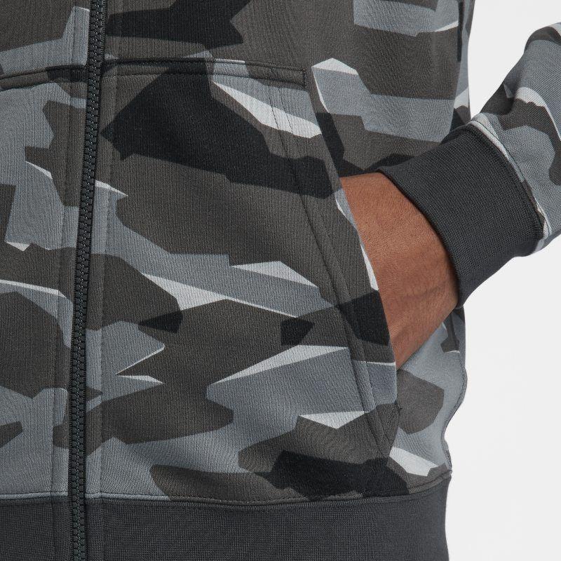 nike sportswear club feece camo hoodie