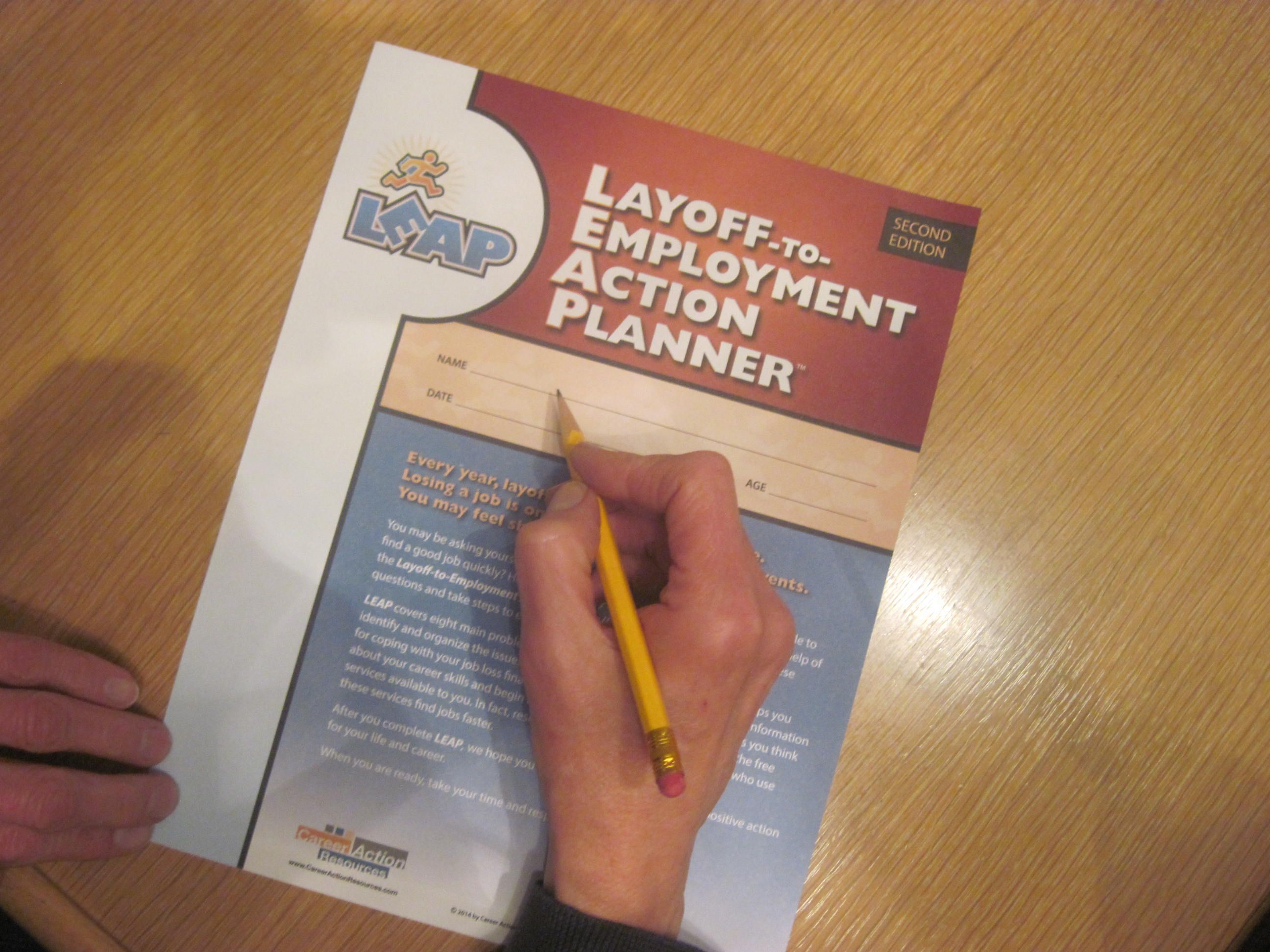 LayofftoEmployment Action Planner review samples will be