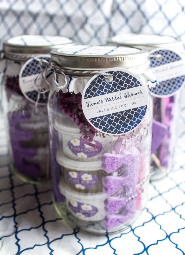 Customizable Lavender Foot Spa In A Jar