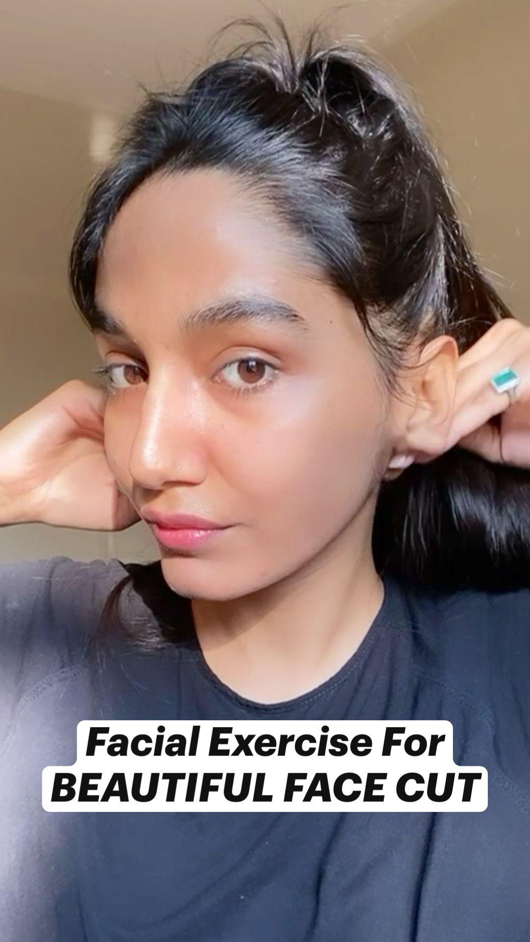 Facial Exercise For  BEAUTIFUL FACE CUT