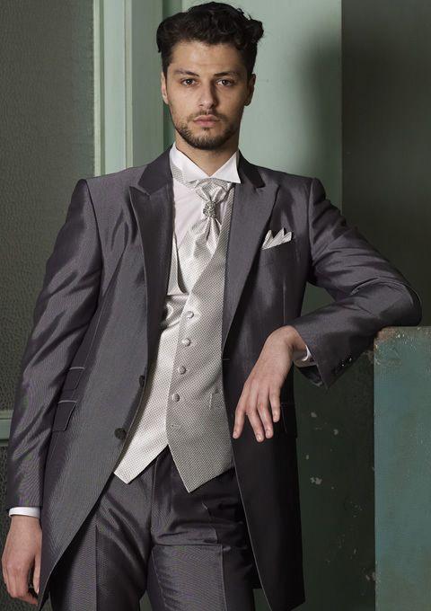 2013 Custom Made Tuxedos 100% Wool sliver Wedding Tuxedos/ Prom Suit ...