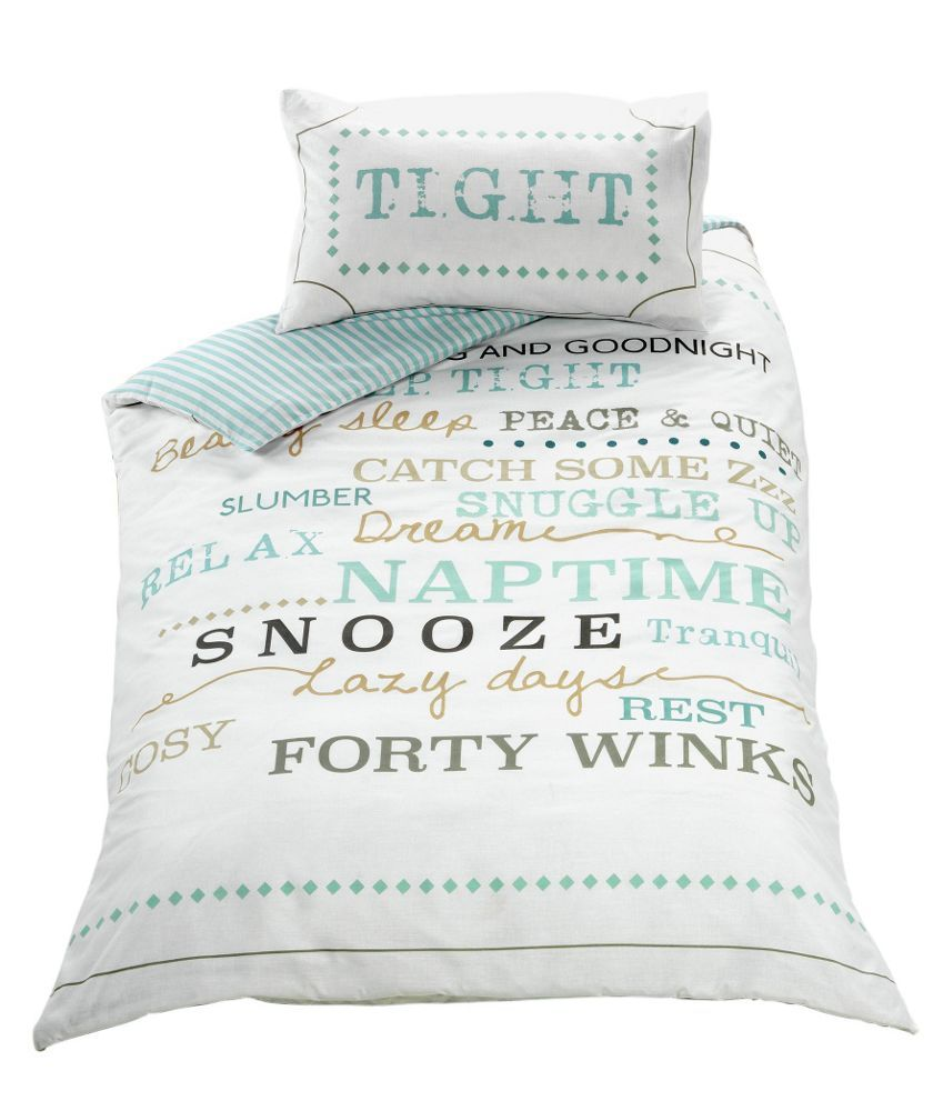 For Gabi S Room Buy Snooze Typography Bedding Set