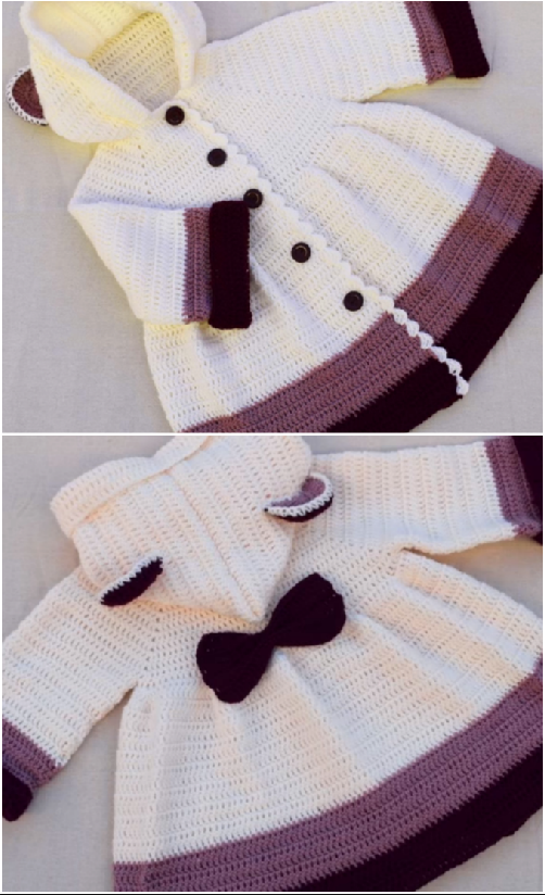 baby girls coat | Háčkované svetříky, ponča aj. | Pinterest | Sacos ...