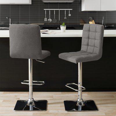 Incredible Brayden Studio Dostie Adjustable Height Swivel Bar Stool Ncnpc Chair Design For Home Ncnpcorg