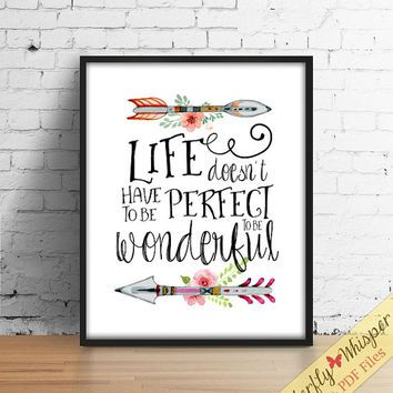 inspirational quote wall art print tribal wall art