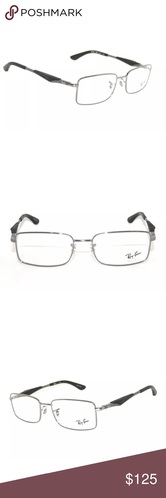 0617ab5eb9a0 ... ireland ray ban eyeglasses 6284 gunmetal black frame new with clear lens  comes with ray 14d3a
