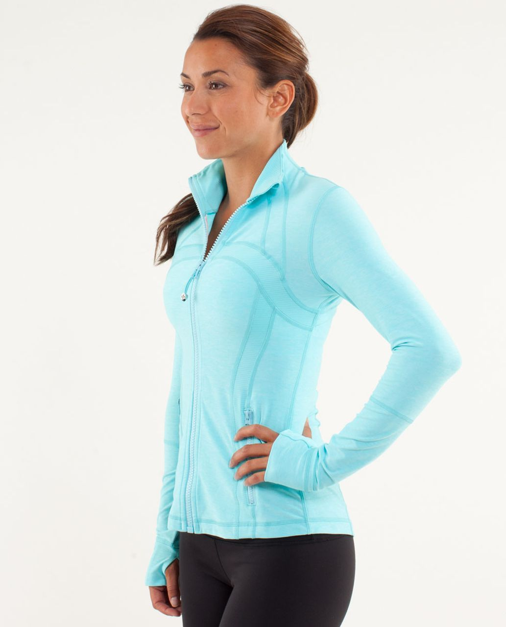 a800b1b325aad Lululemon Define Jacket - Heathered Angel Blue   Tonka Stripe Angel Blue    Heathered Angel Blue