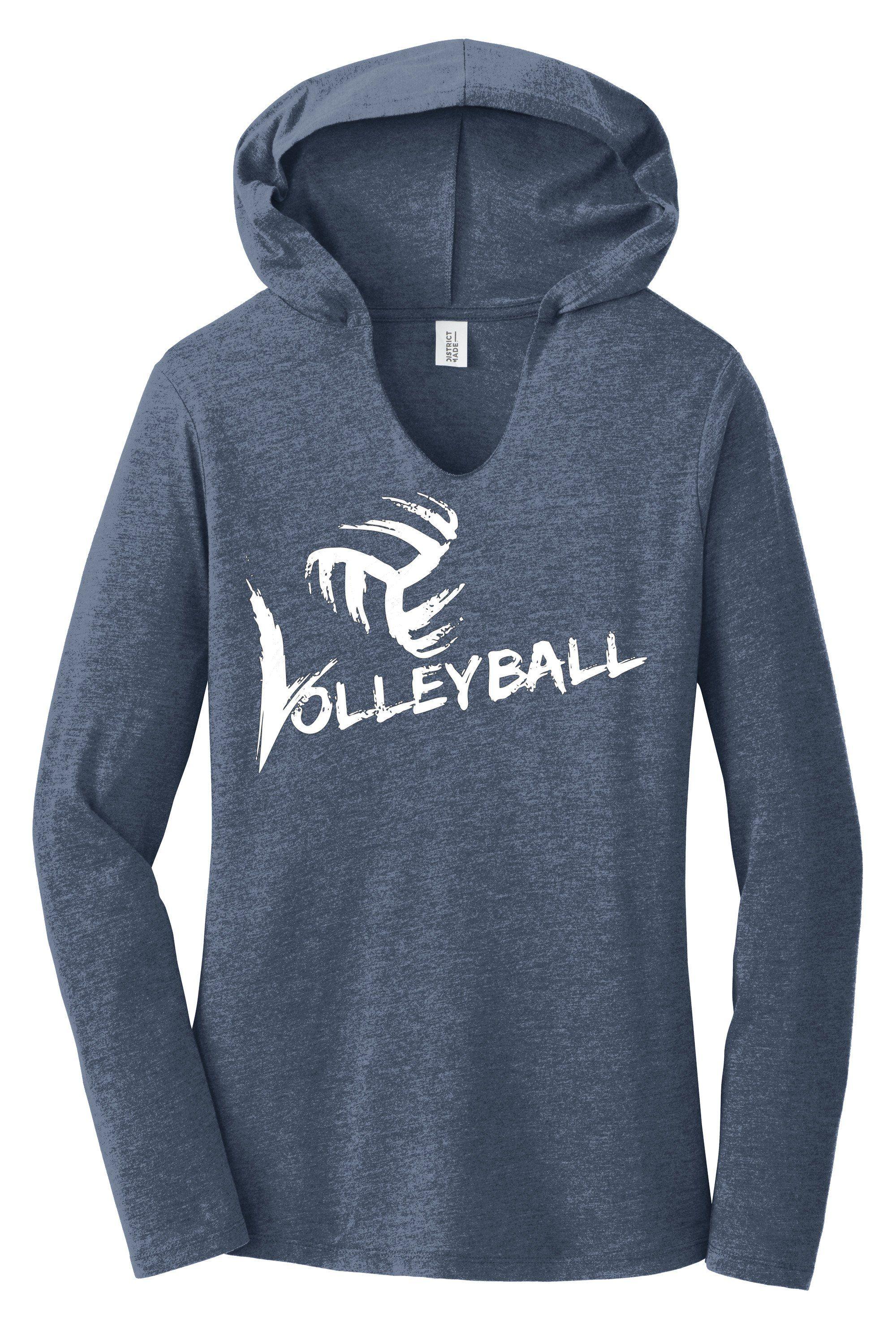 Volleyball Long Sleeve Hooded T Shirt Hoodie Shirt Graphic Hoodies Hoodies Womens