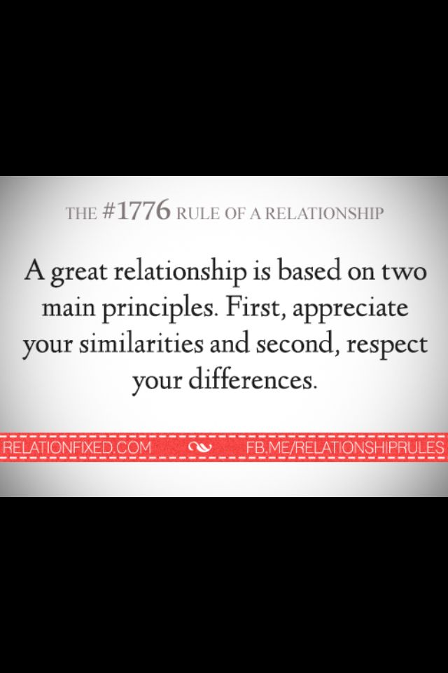 Appreciate Similarities And Differences Relationship Rules Quote