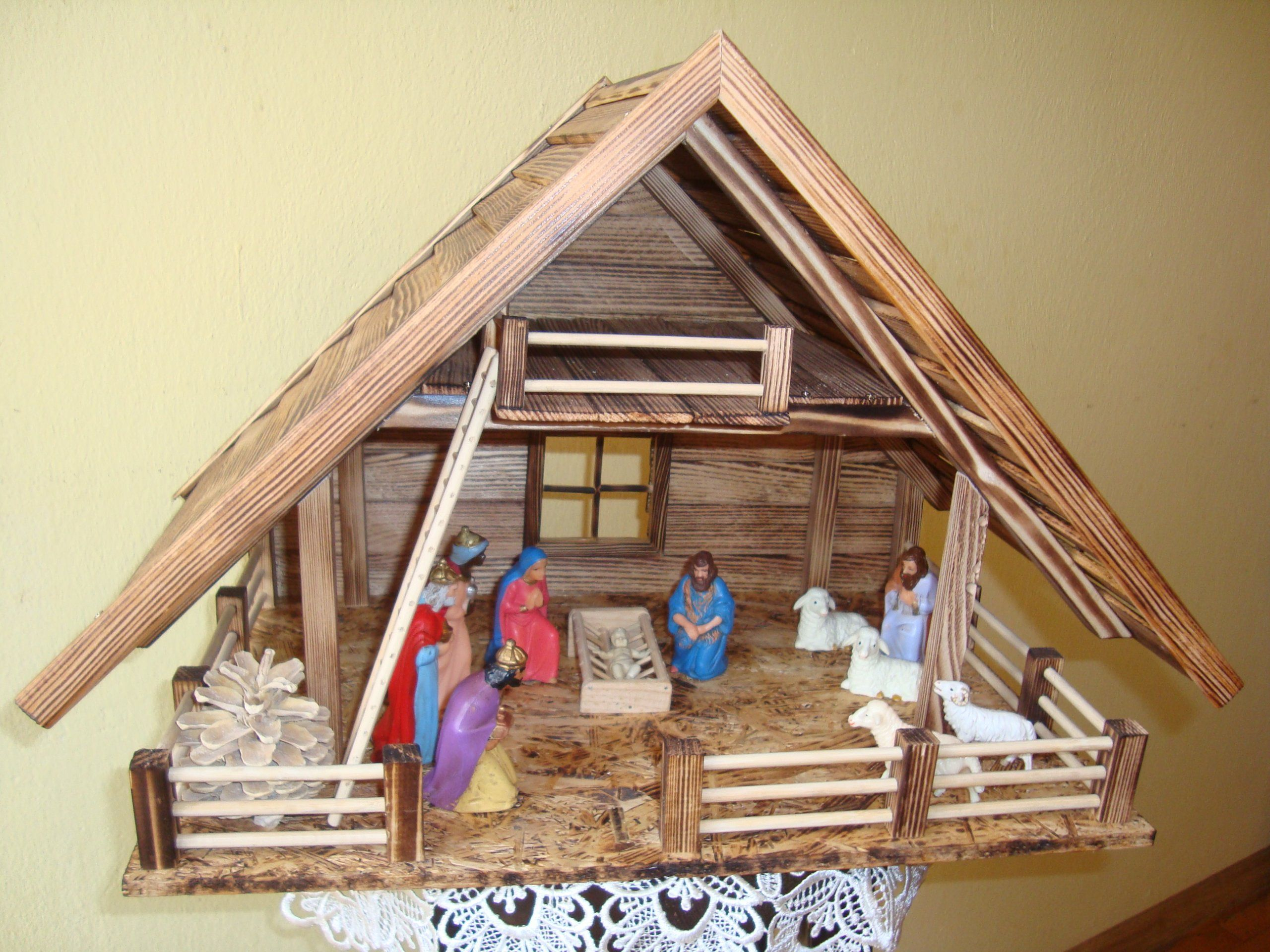 Szopka Stajenka Bozonarodzeniowa Obustronna Christmas Decor Diy Christmas Nativity Christmas Decorations