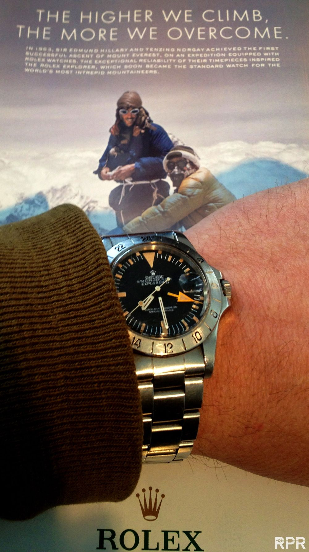 Rpr siredhillaryrolex1655 horloges en for Jason statham rolex explorer