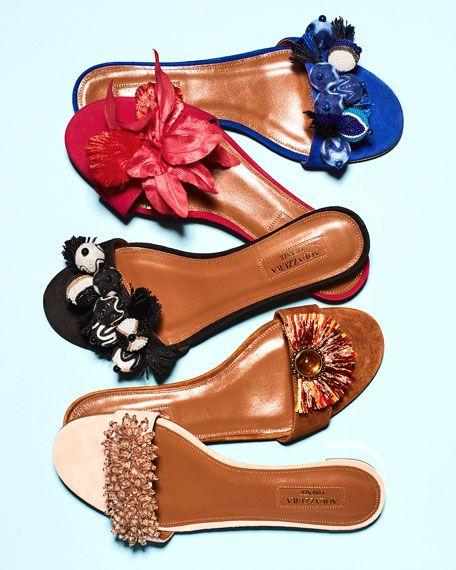 Beaded Tropicana Slide Sandal Suede Pies BlackA Mis thdQrBCxs