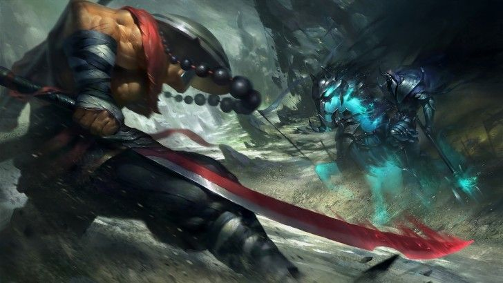 Juggernaut vs Abaddon Dota 2 Wallpaper