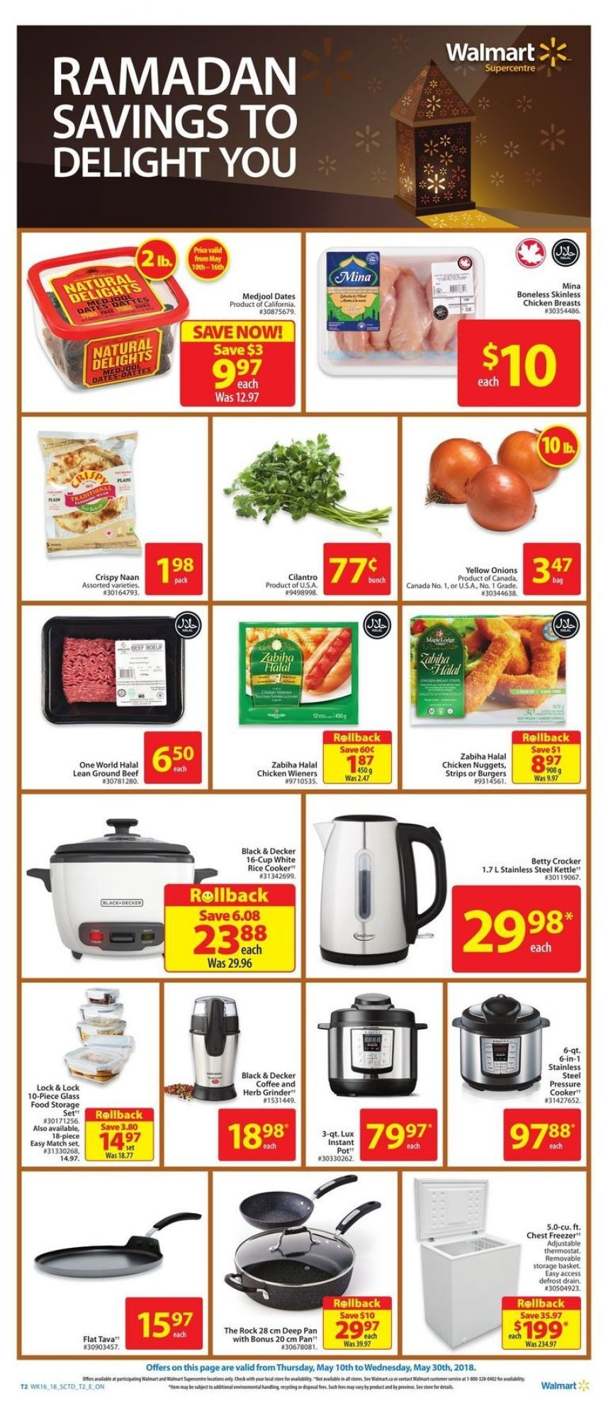 Flyer Walmart Ramadan Savings On Canada From Thursday May 10 2018 To Wednesday May 30 2018 Flyer Walmart 10 Things