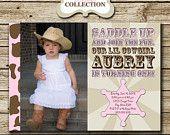 Western Cowgirl Photo Birthday Invitation by designingforpeanuts