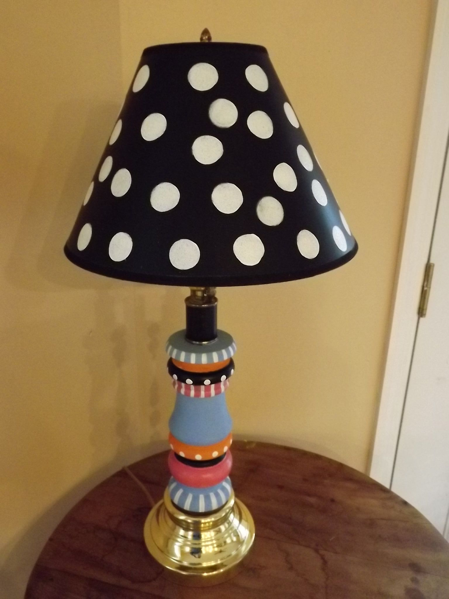 Whimsical Lamp Hand Painted Lamp Home Decor Lighting Table Lamps Home And Living Painting Lamps Table Lamp Painting